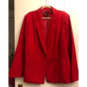 Plus size bell sleeve blazer